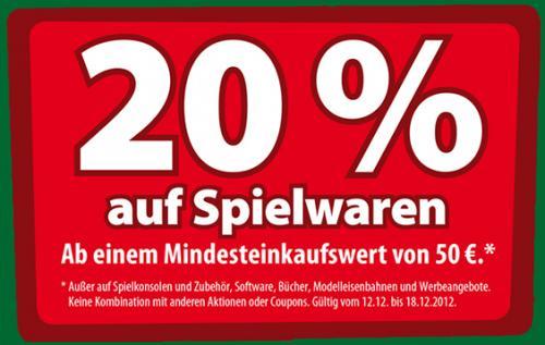 (LOKAL BAYREUTH) 20% auf Spielsachen bei Spielemax