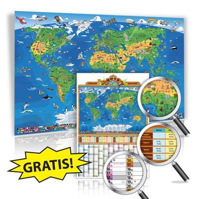XXL 1,35 Meter Panorama Kinder Weltkarte (2013 Edition) EUR 14,99 (+2,95 Versand)