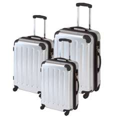 CHECK-IN 3-tlg. Trolley-Set KAIRO Boardcase/XL/XXL Hartschale silber NEU@Ebay 54,80€ ink. Versand