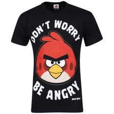 "(UK) Angry Birds ""Don't Worry Be Angry"" T-Shirt für ca. 9.83€ @ Zavvi"