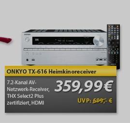 Onkyo TX-NR616 für 359,99€ @Meinpaket