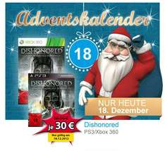 Dishonored PS3 / XBOX für 30€ @Müller
