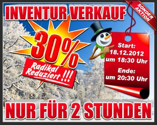 Heute um 18:30 - aktuelle Outdoor- Kleidung, Schuhe + Rucksäcke mit 30% Rabatt abräumen!
