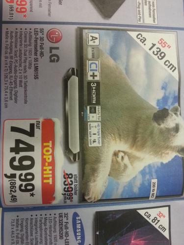 "[METRO bundesweit ] LG 55LM615S 55"" 3D-TV  ab 20.12."