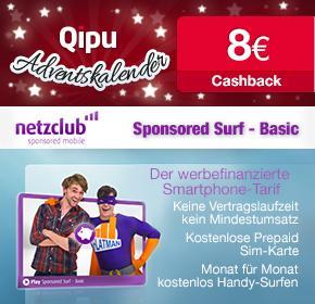 [qipu Adventskalender] 8€ Cashback für Netzclub-Simkarten