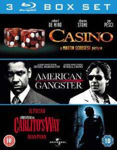 (UK) Gangster-Box Casino (American Gangster / Carlito's Way) oder Warbox (Green Zone / Jarhead / The Kingdom) [3 x Blu-Ray] für je 10.96€ @ Zavvi