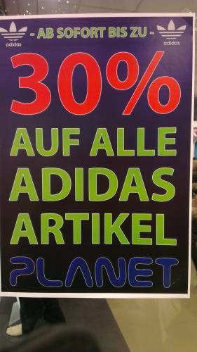 Schon wieder im Planet (Blautal Center) 30% auf Adidas