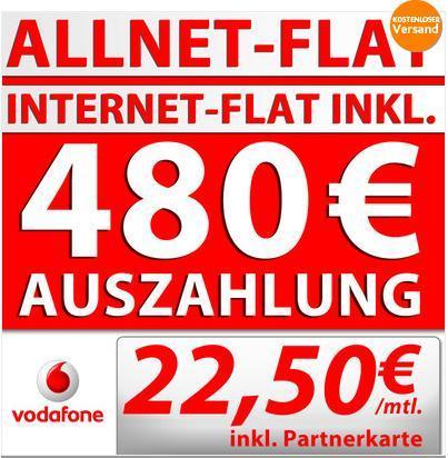 Vodafone Red M 22,50€/Monat für SoHo