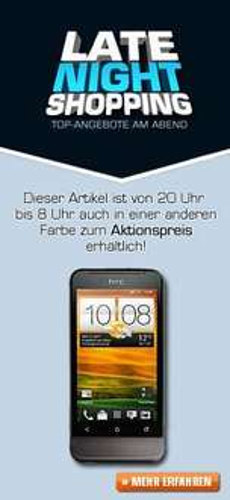 [Online] HTC One V Black @ Saturn nur von heute 20 Uhr bis 8 Uhr Morgen