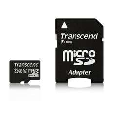 Transcend Ultra microSDHC 32GB Class 10 Card (@Amazon.de)
