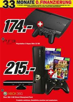 [Media Markt] Xbox 360 4GB / Kinect / Disneyland / Adventures Bundle 215€ // Playstation 3 Super Slim 12GB 174€