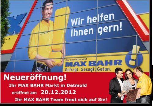 [Lokal] Detmold: MAX BAHR Neueröffnung - Viele Sonderangebote
