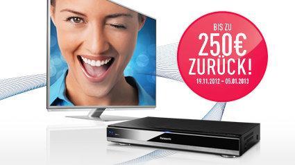 Panasonic bis zu 250 EUR Cashback Aktion - Smart-Viera-TV oder Blu-ray Rekorder @ Amazon.de