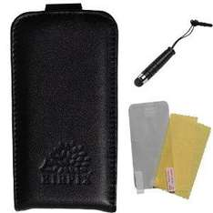Echt Ledertasche+Schutzfolie+Stift für iPhone 4 Amazon sehr günstig! MIT AMAZON PRIME