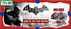 Batman Arkham City - GOTY Edition für 7,49€ @GetGamesGo