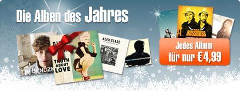 Alben des Jahres 2012 für je 4,99€ bei Musicload