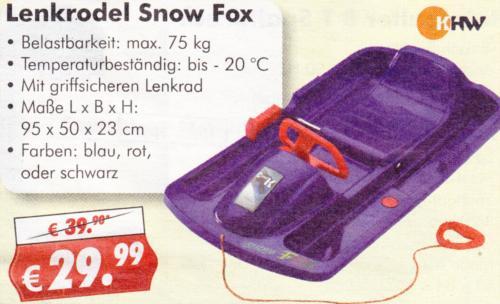[Lokal-Neuwied] KHW Lenkrodel Snow Fox