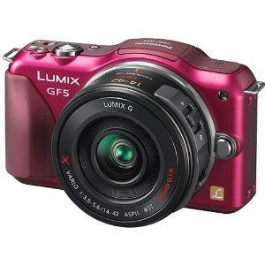 Panasonic Lumix GF5 inkl. G Vario 14-42 mm Objektiv *ROT*