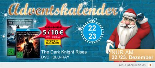 The Dark Knight Rises BLU-RAY 10€ / DVD 5 € offline @Müller @ 22/23.12