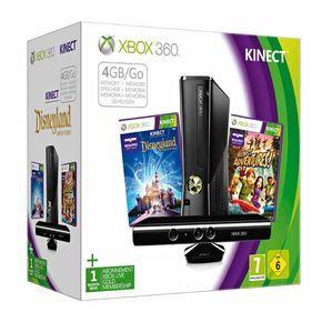 MICROSOFT Xbox 360 4 GB Kinect + Kinect Disneyland Adventures Bundle