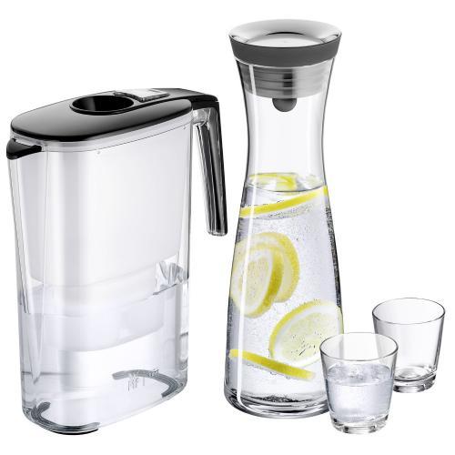 WMF Aquarista-Set 4-teilig: Filterkaraffe, Wasserkaraffe und 2 Wassergläser