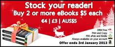 Seasonal eBook Offer - Buy 2 or more $5 each