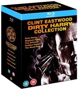 (UK)  Dirty Harry Collection [5 x Blu-ray] alle Filme inkl. deutscher Tonspur für ca. 18.33€ @ Zavvi