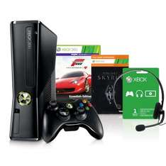 [Amazon WHD] Xbox 360 250 GB+Forza 4(Ess. Ed.)+Skyrim(Download)+1 Monat Gold+Headset ODER Xbox 4GB Kinect-Bundle Disneyland (202,21). WIE NEU