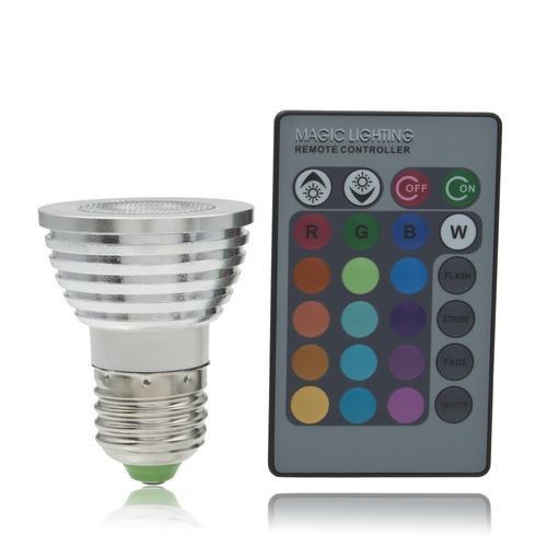 [LED Leuchtmittel] 5W Farbwechsel LED Leuchtmittel mit Fernebdienung - 5,25€ - nochmal günstiger - @ebay.de