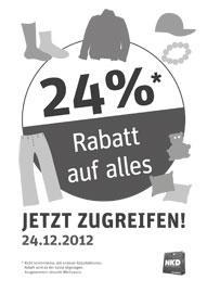 [LOKAL 24%] [Online 30% ab 17Uhr] NKD 24%/30% Rabatt