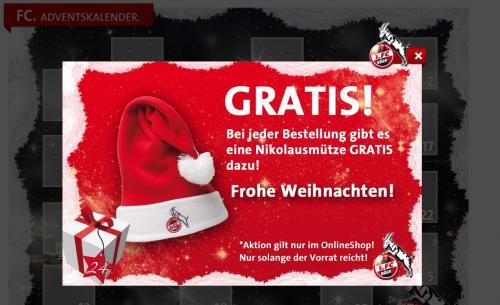 1. FC Köln Onlineshop Gratis Mütze