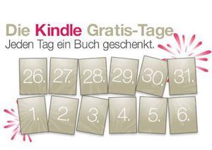 "17 Gratis eBooks bei Amazon-Weihnachtsaktion ""Die Kindle Gratis-Tage"" ab 25.12.2012-06.01.2013"