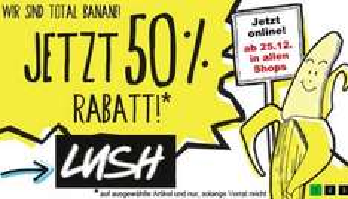 Für einen sauberen Start ins neue Jahr: Lush gibt 50% Rabatt auf viele Produkte [online & offline]