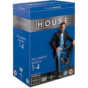 DVD - Dr.House (House M.D) Complete Seasons 1-4 Box (22 DVDs) für 21,79€ @ amazon.co.uk