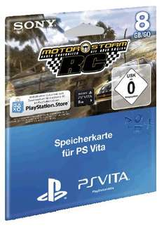 PS Vita Memory Stick 8GB Original + Voucher Motorstorm RC DLC