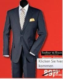 [offline] Metro - Herren Anzug für 23,80€