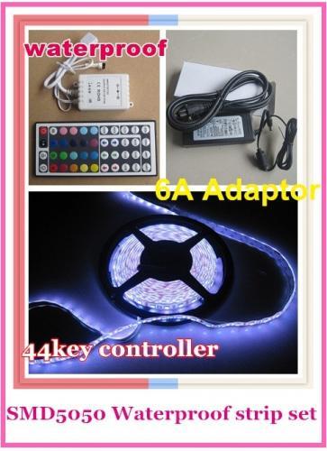 5050 300 5M RGB LED Strip light SMD 60led/m waterproof + 44 IR