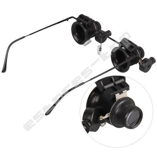 20X Fach Lupenbrille+LED Lampe für 6,08 € inkl.Versand