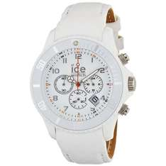 Ice-Watch Men's Chronograph White Big Leather Strap Watch CH.WE.B.L