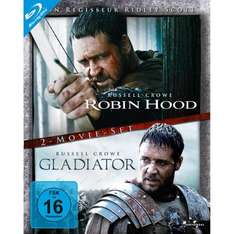 Robin Hood / Gladiator (Director's Cut / Extended Edition, 2 Discs) [Blu-ray] für 9,97 € @ Amazon