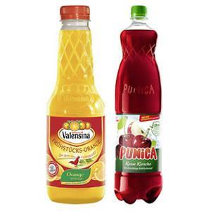 [Real Offline] Valensina oder Punica Fruchtsaftgetränk, Nektar, Tea & Fruit