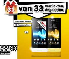 Sony Xperia U mit Android 4 ab 20:00 Uhr. Bei MM Preis: ???