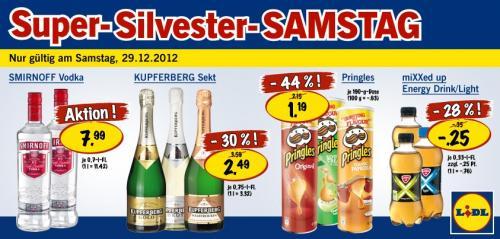 [Erinnerung, Lidl] Smirnoff Vodka 0,7l für je 7,99€ nur am 29.12.12 (bundesweit)