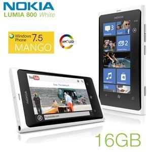 Nokia Lumia 800 Smartphone (9,4 cm (3,7 Zoll) AMOLED-Touchscreen, 8 Megapixel Kamera, Micro-SIM, Windows Phone Mango OS) weiß @ibood für 205,90€ (idealo 263,90€) inkl. VSK bzw. 195,91 mit qipu