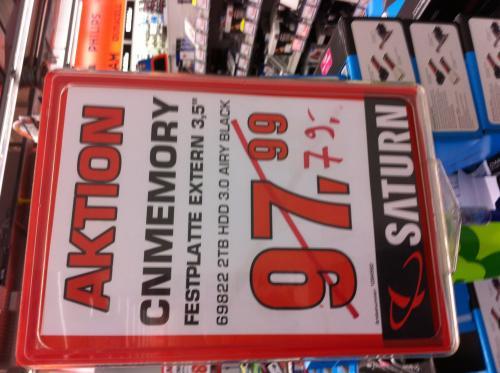 [LOKAL | FFM Saturn MyZeil ] CnMemory Airy 2TB USB 3 3,5 Zoll