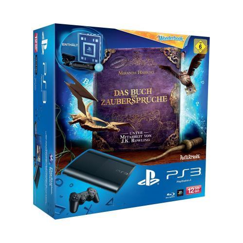PlayStation 3 12GB + Wonderbook Spiel + Medal of Honor: Warfighter + Move Starter-Pack + 90 Tage Live Card gratis.  für 210,-