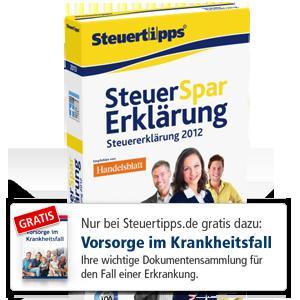 Steuer-Spar-Erklärung 2013 als Download mit 5€ Rabatt bis zum 31.12.2012