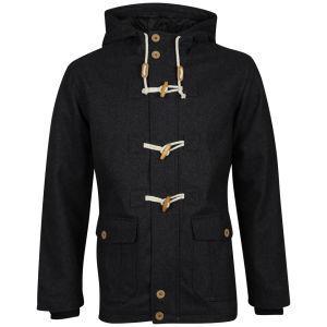 Bravesoul Men's Arizonac Hooded Duffle Coat - Charcoal für 32,89€