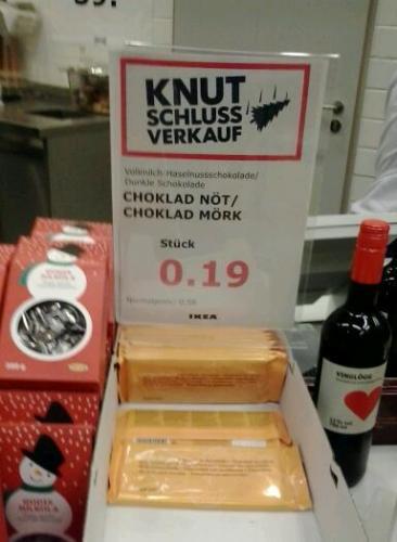 IKEA Berlin...Würrgg...IKEA Schokolade für 19 Cent....