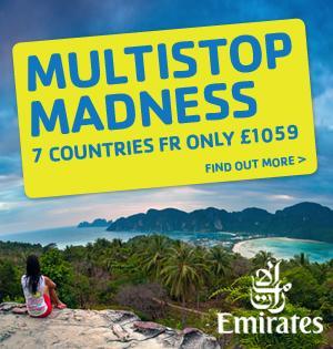 Flüge: Round the world mit Emirates (z.B. Dubai, Sri Lanka, Singapur, Australien, Neuseeland, USA) ab London jetzt ab 1230,- €